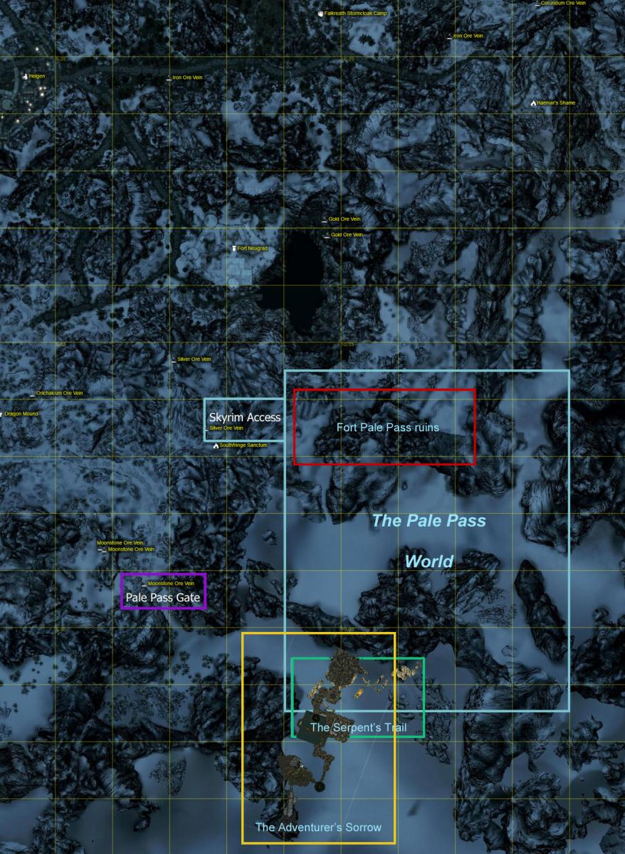 Pale Pass Locations